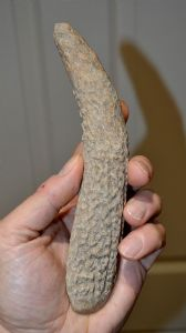 An extremely rare Neolithic antler, flint flaking hammer & pressure flaking tool, European. SOLD